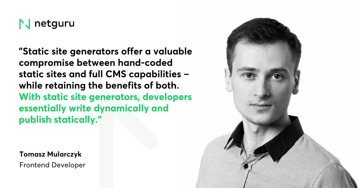 Mularczyk Quote on Static site generators
