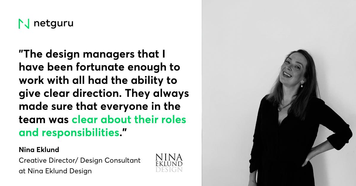 Nina Eklund Design mistakes design managers make quote