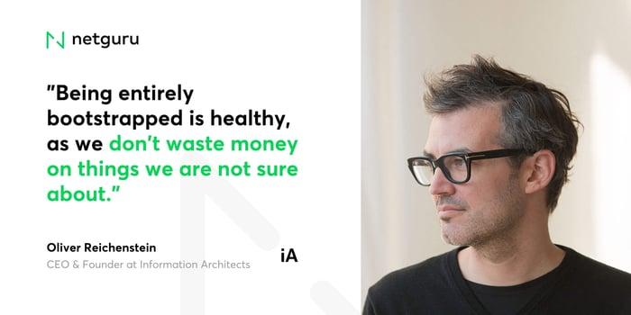 Oliver Reichenstein from iA - dont waste money
