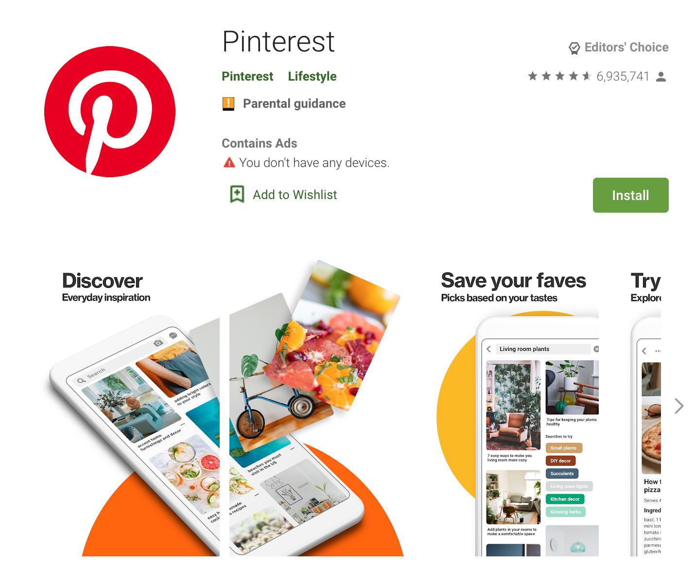 Apps Written in Kotlin: Pinterest