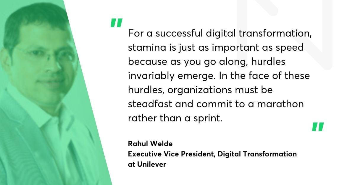 Rahul Welde Unilever quote