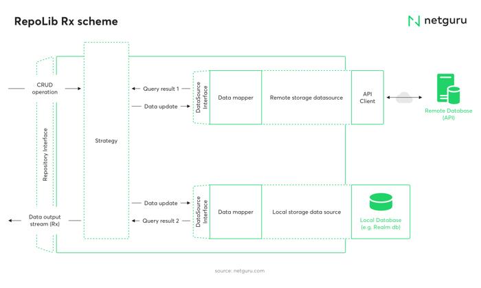RepoLib Rx scheme, application architecture