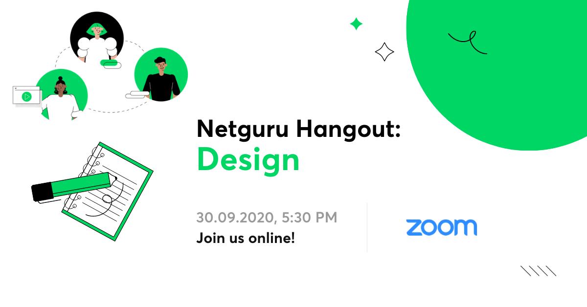 Netguru Hangouts - event design