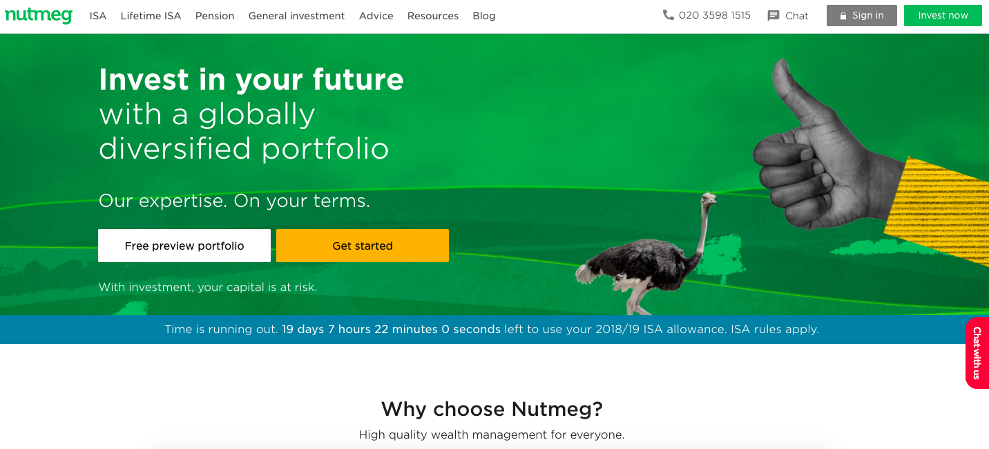 Nutmeg wealthtech