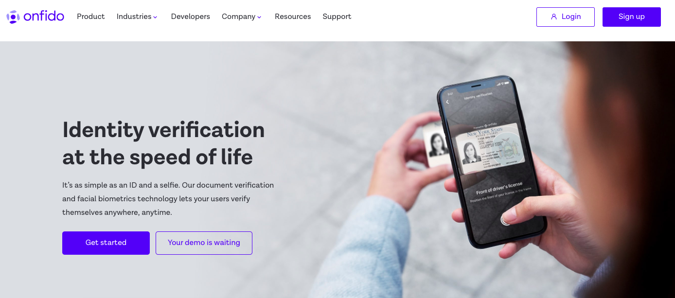 Onfido fraud prevention software SaaS