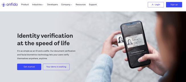 Onfido fraud prevention software SaaS