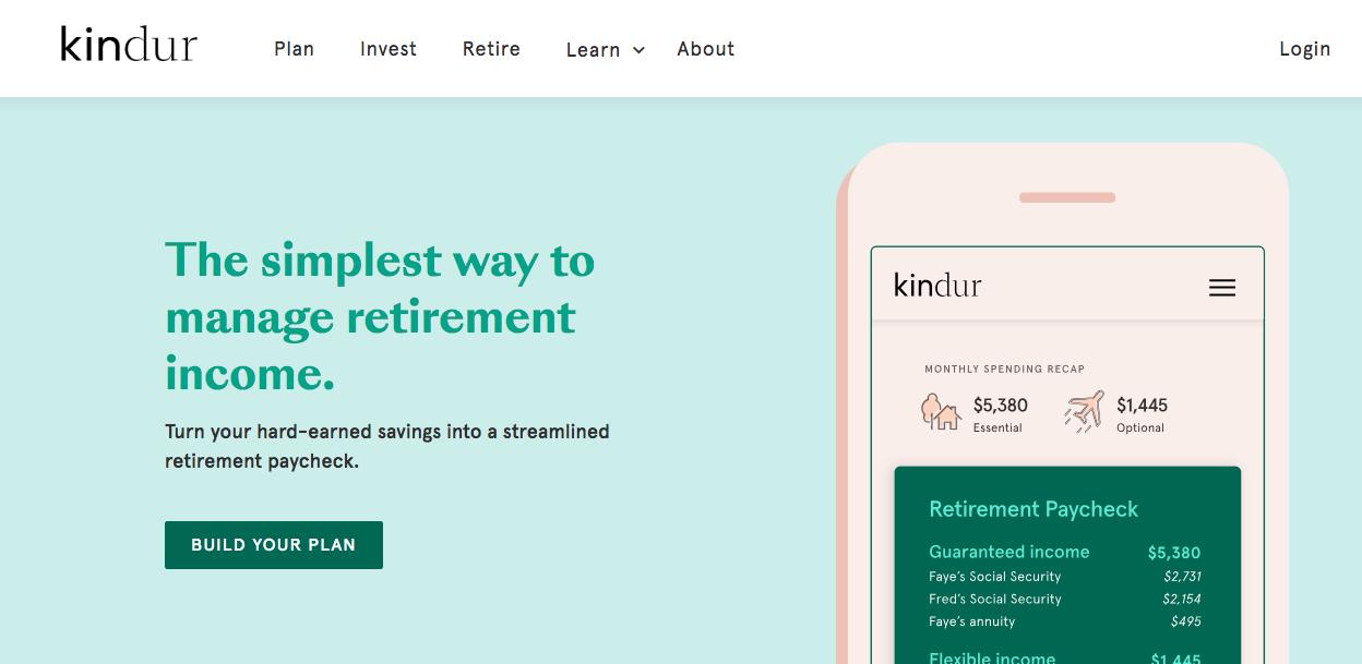 Kindur fintech app retirement savings