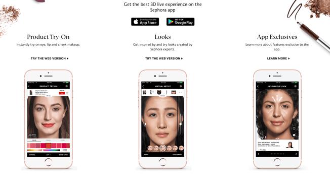 Sephora, Modiface app