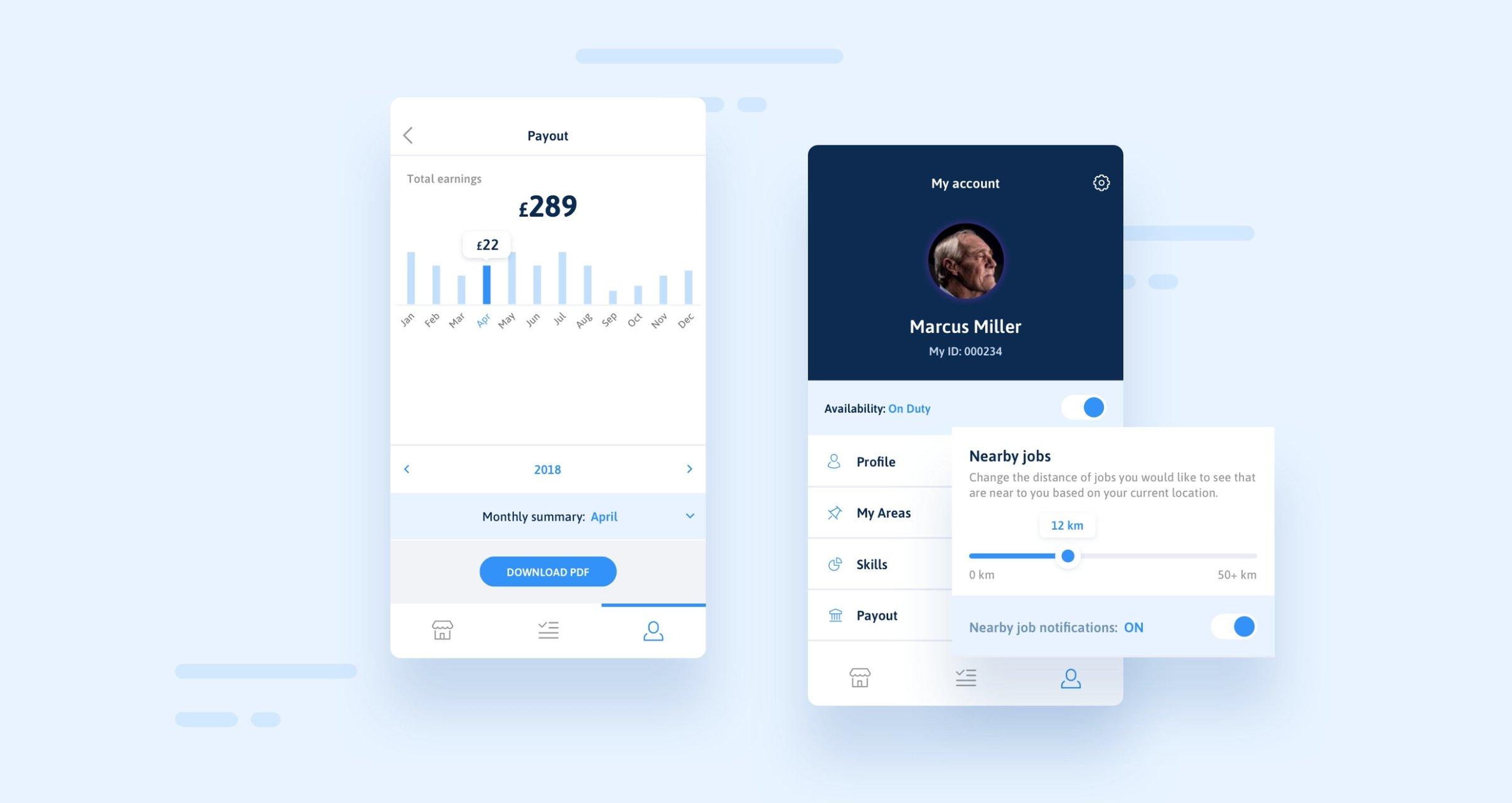 Shepper - React Native application job services app by Netguru