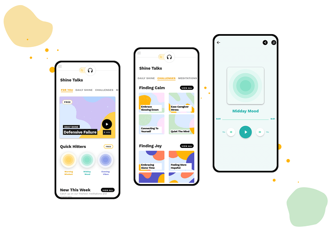 React Native mobile app examples - Shine