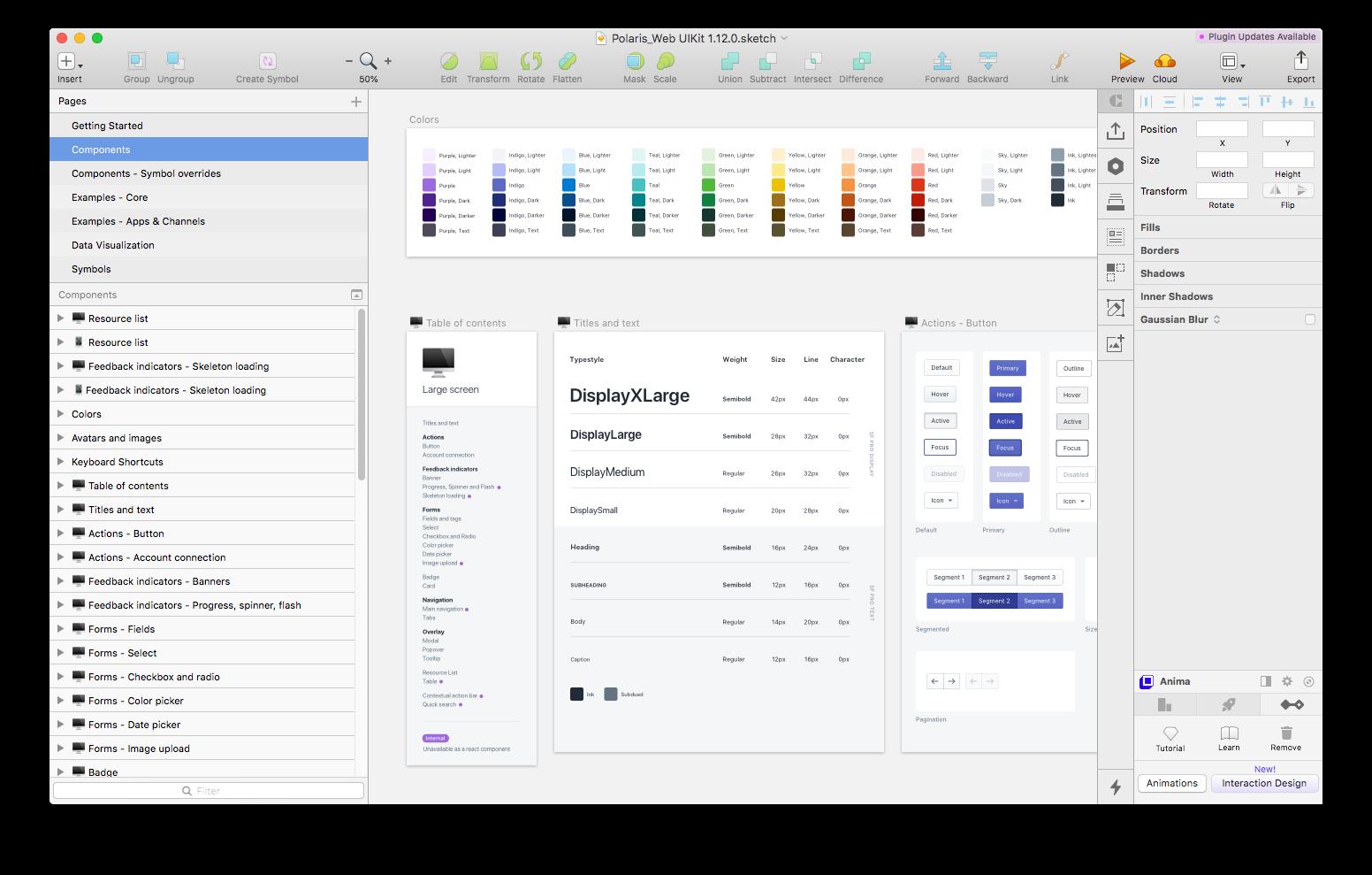 Shopify's Design System — Polaris (Design Library in a Sketch file)