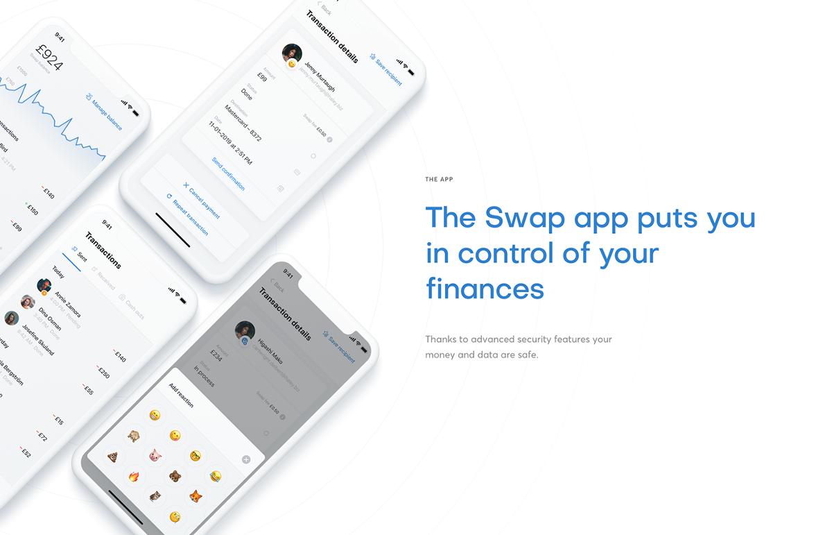 Swap payment app Netguru design