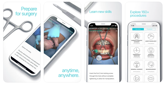 Touch Surgery surgical app