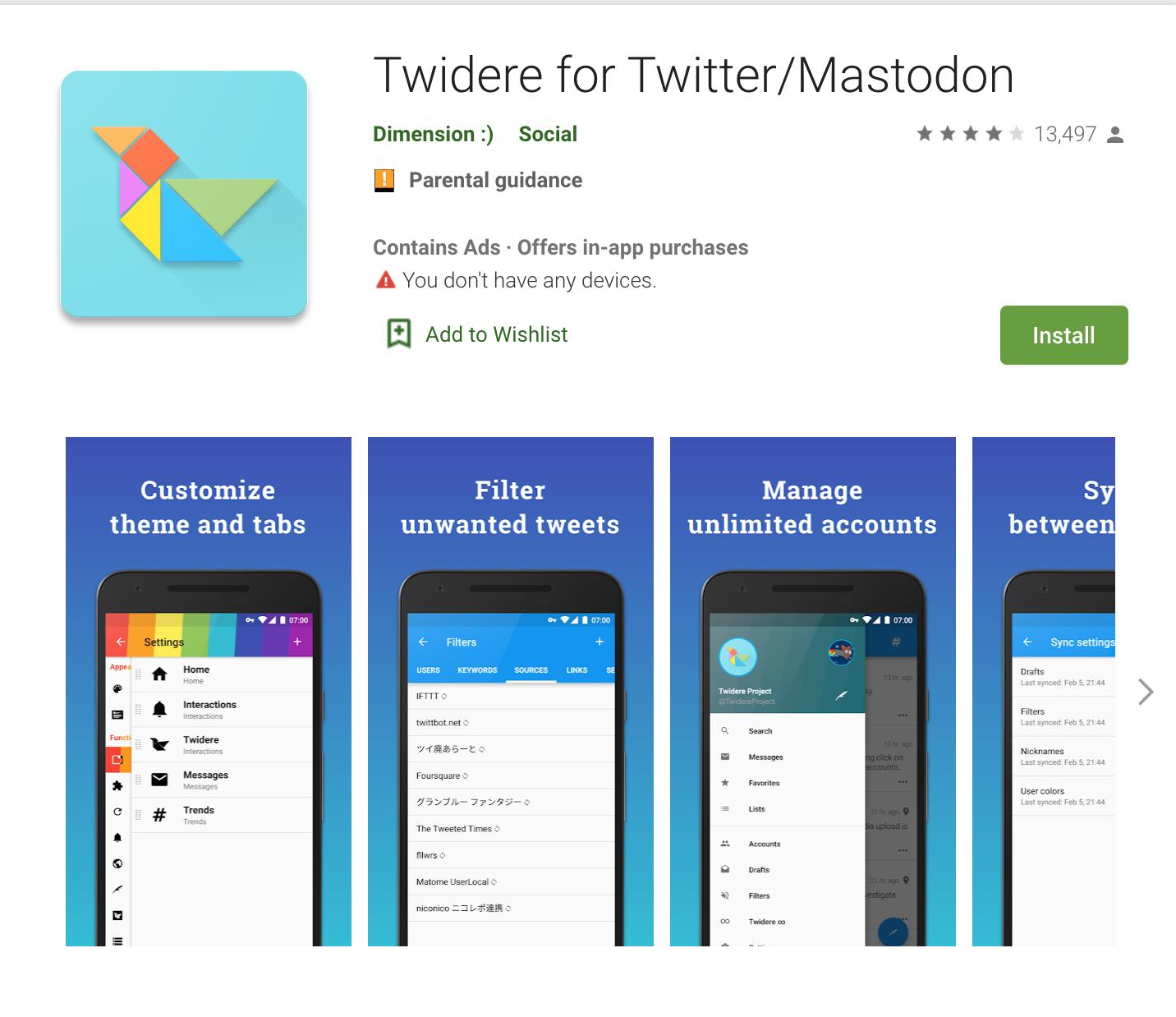 Apps Written in Kotlin: Twidere for TwitterMastodon