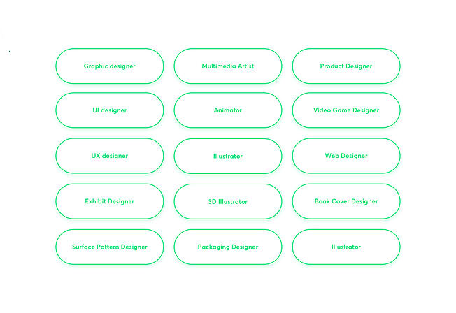 Some of the current design-related specializations available on the market
