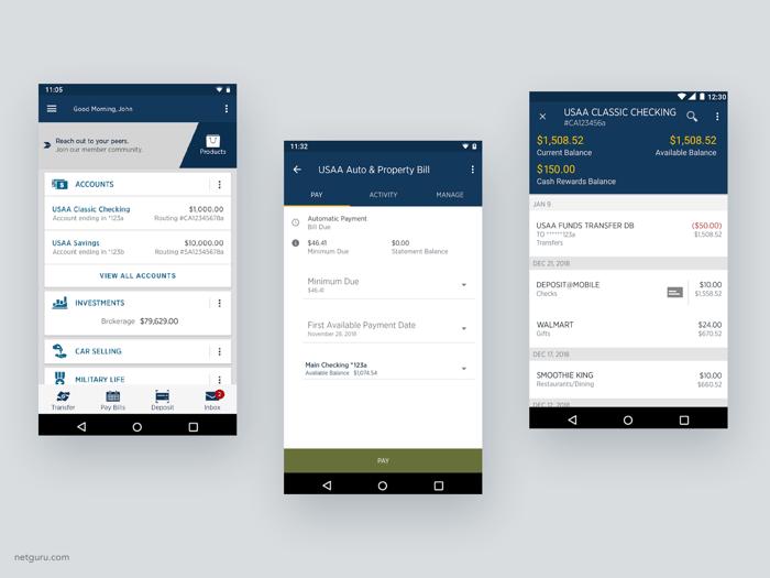 USAA Mobile app