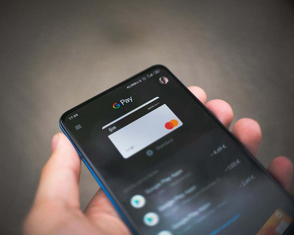 Google Pay on the phone