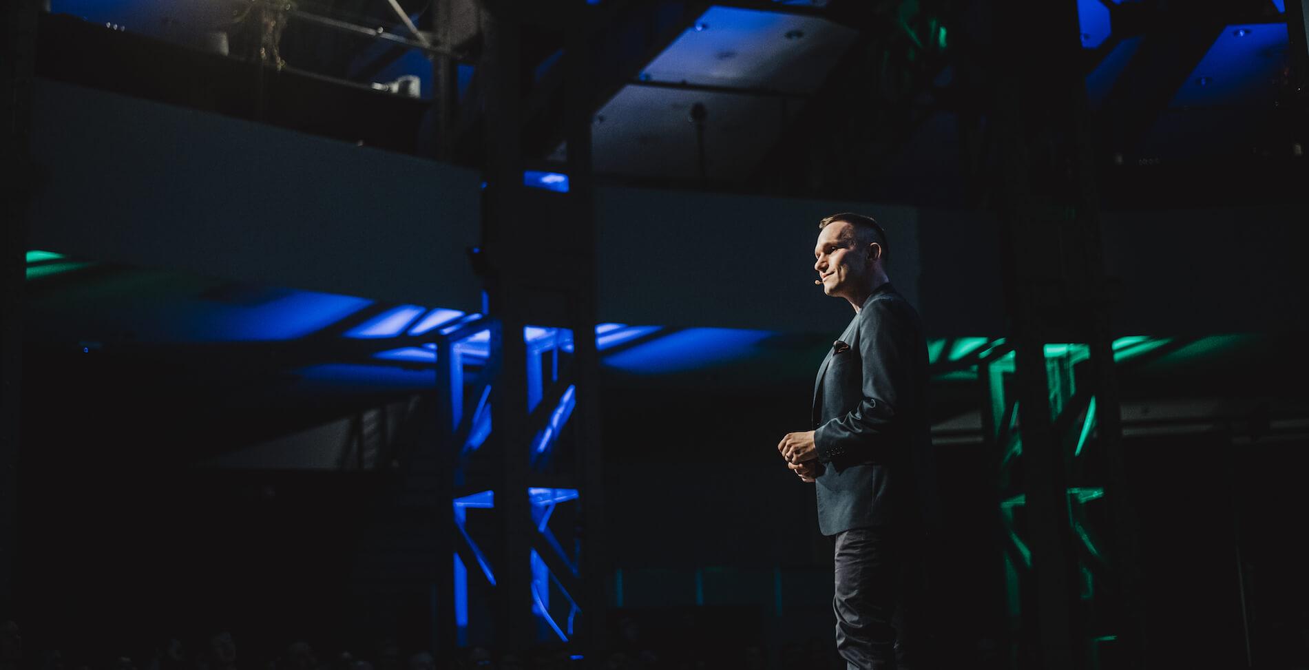 Netguru CEO at the stage