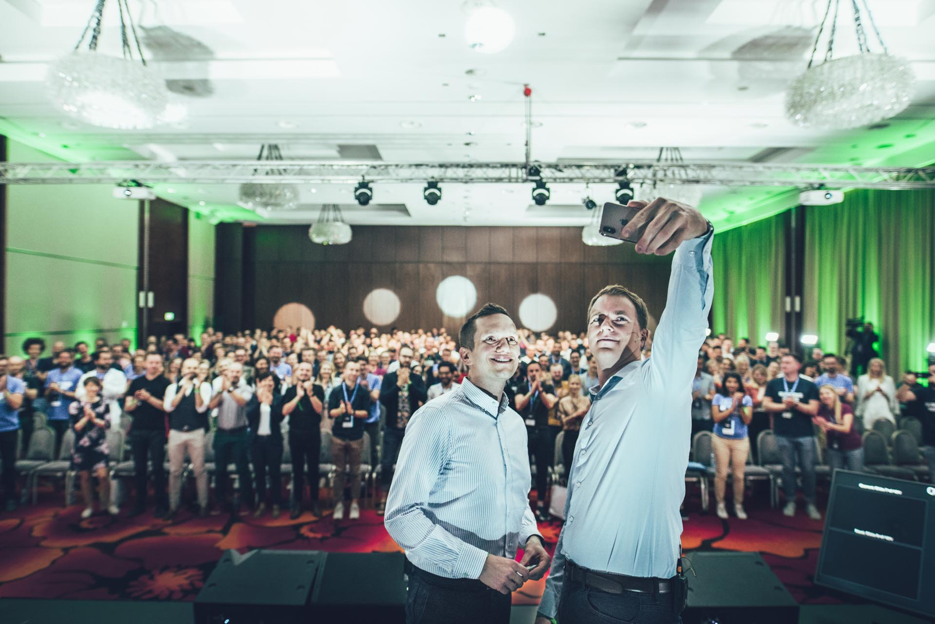 Marek Talarczyk and Wiktor Schmidt at Netguru Burning Minds 2019 Conference
