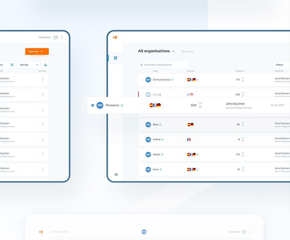 Babbel interface