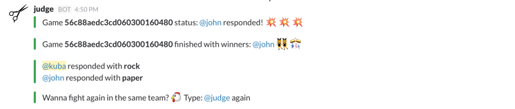 Rock-paper-scissors on Slack
