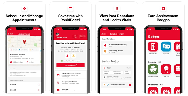 blood donor app red cross