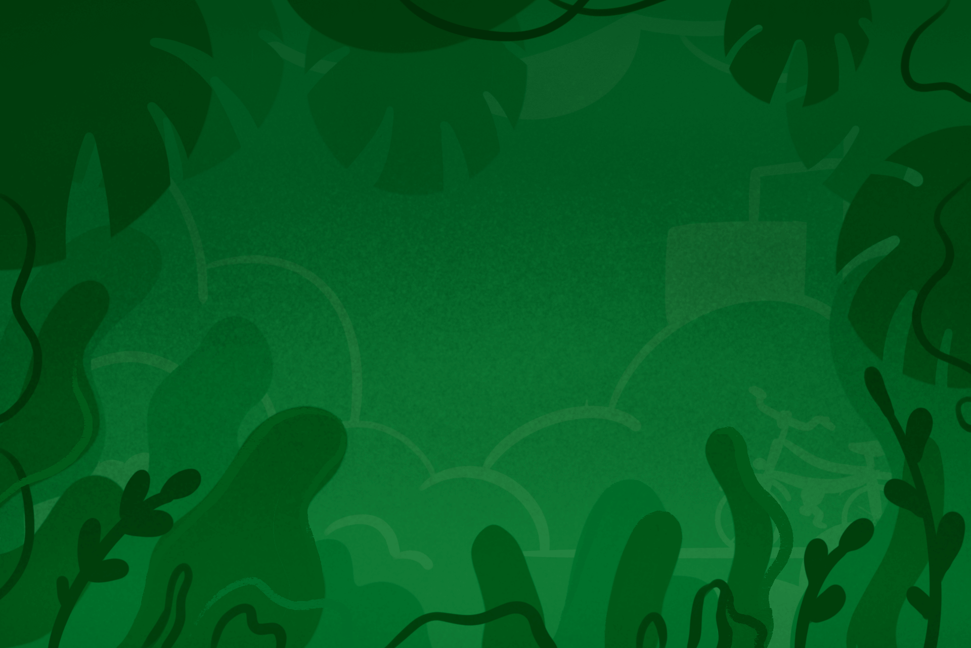 green background with plants