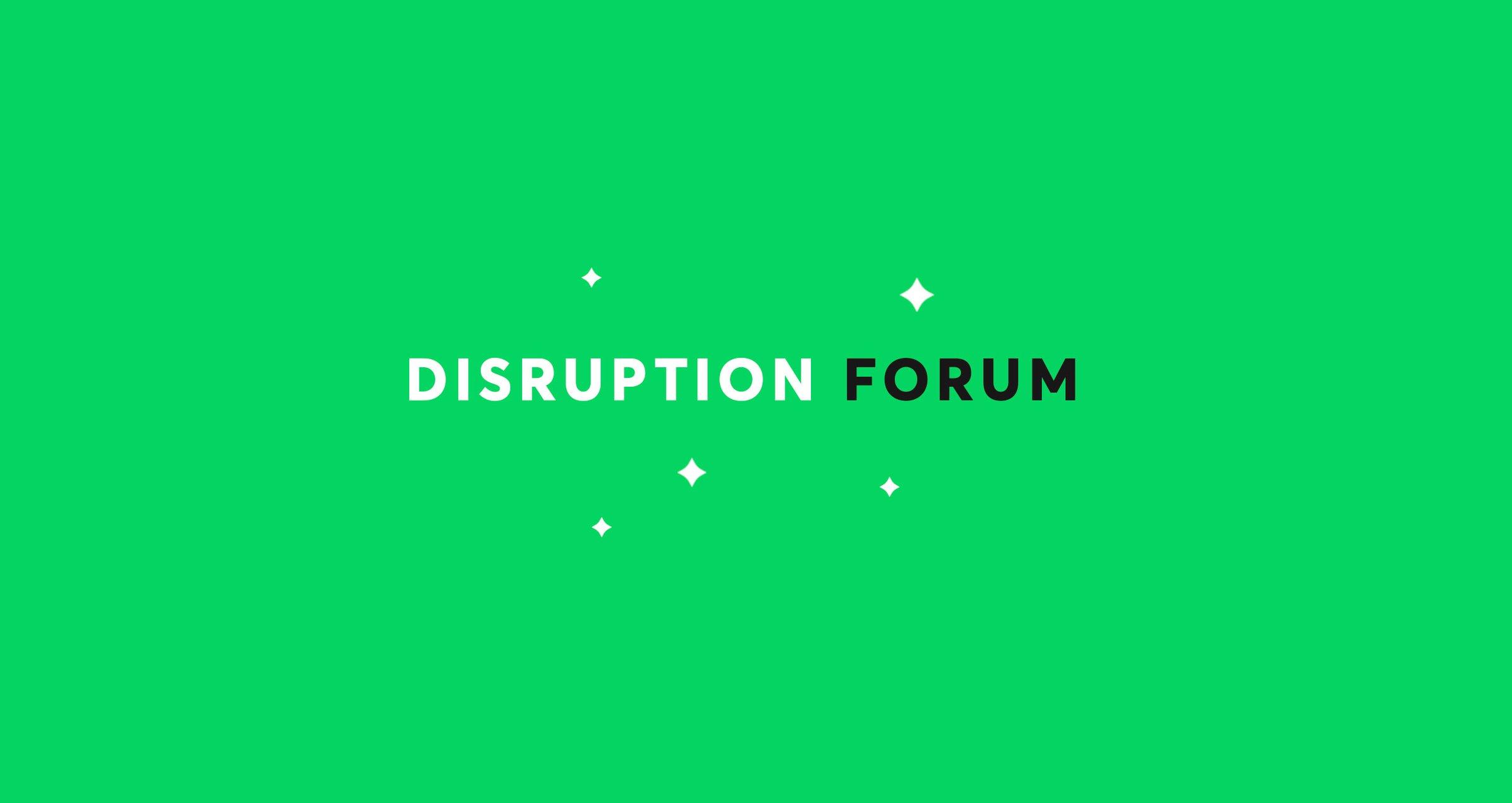 disruption forum remote