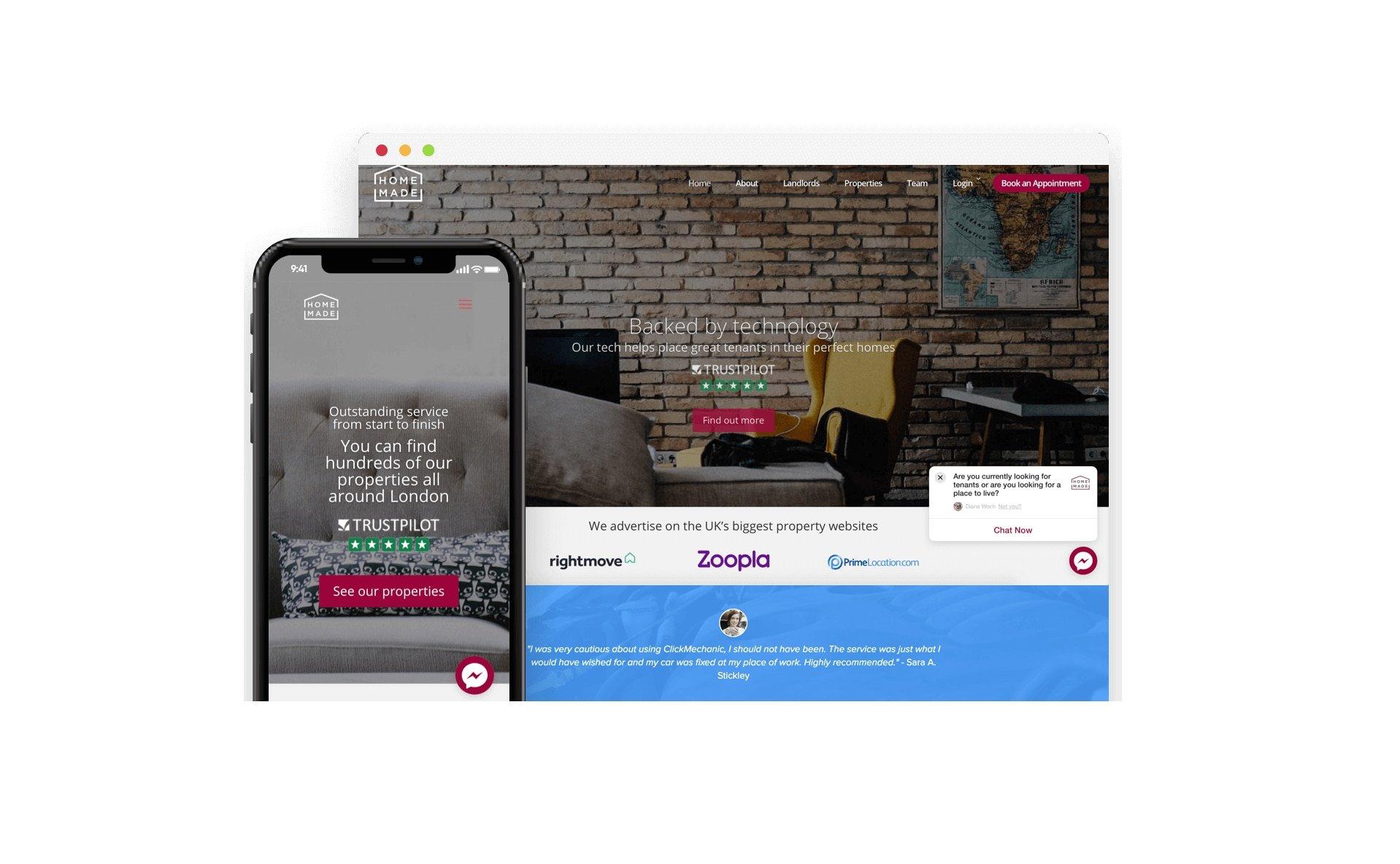 homemade app interface