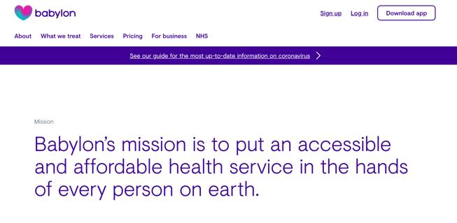 Babylon health website