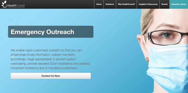 HealthCrowd website