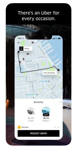 uber location app store