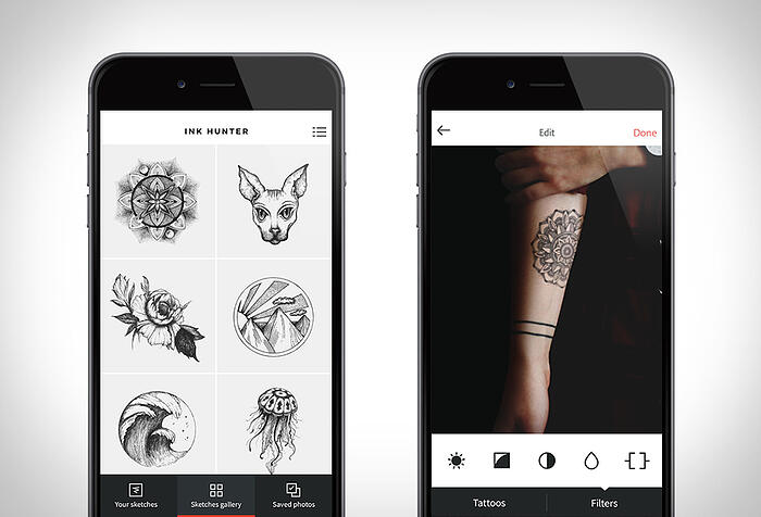 tattoo app Inkhunter - augmented reality