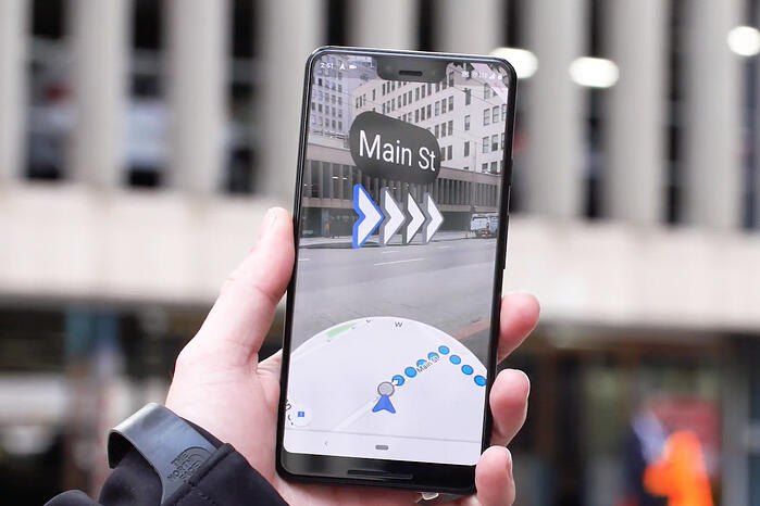 Google Maps AR - augmented reality