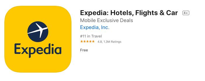expedia app title keywords