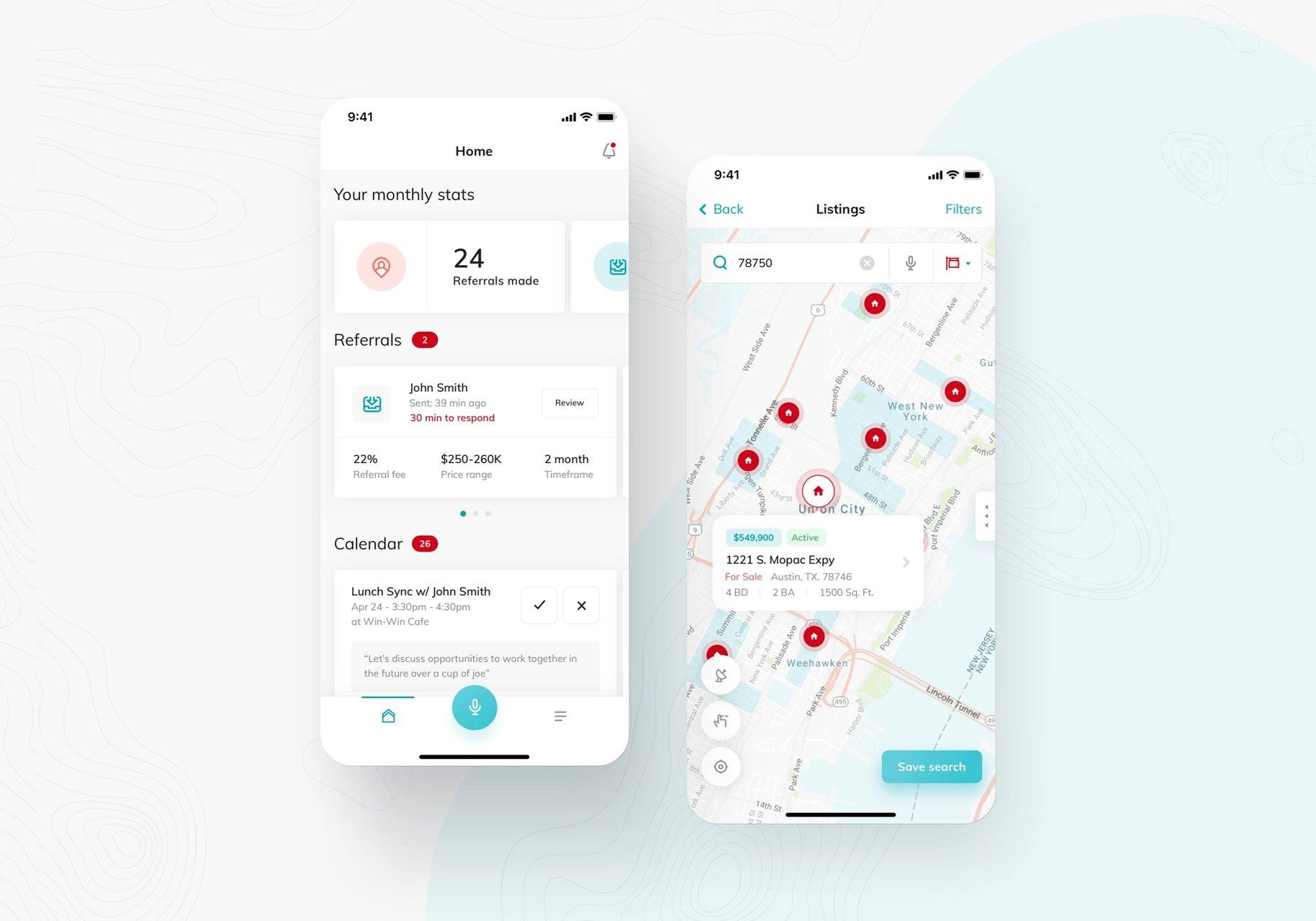 keller williams app interface