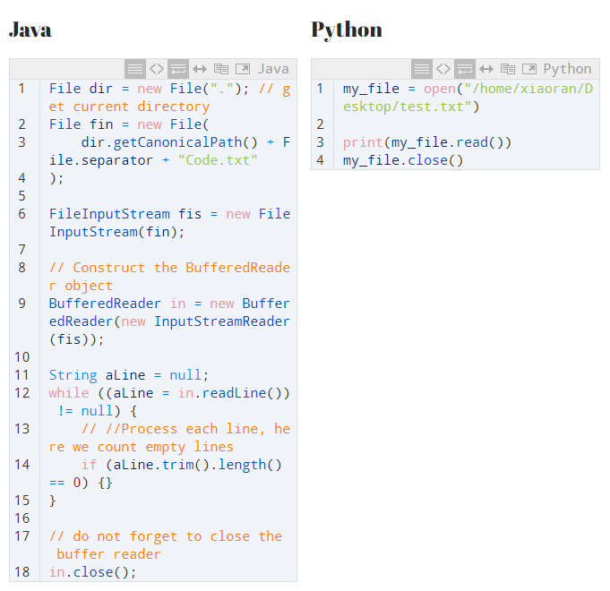python vs java comparison