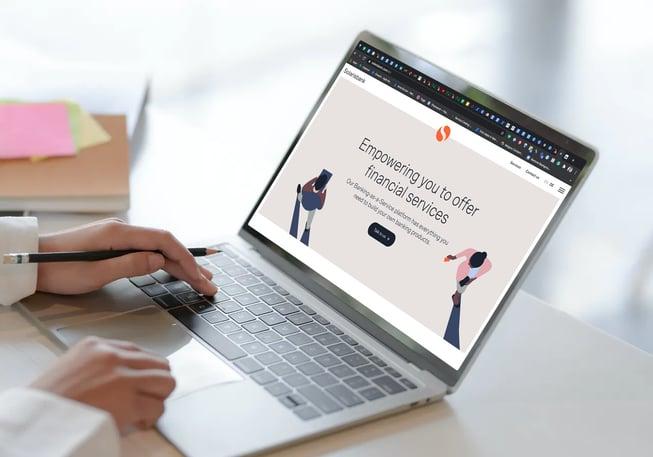 solarisbank on a laptop