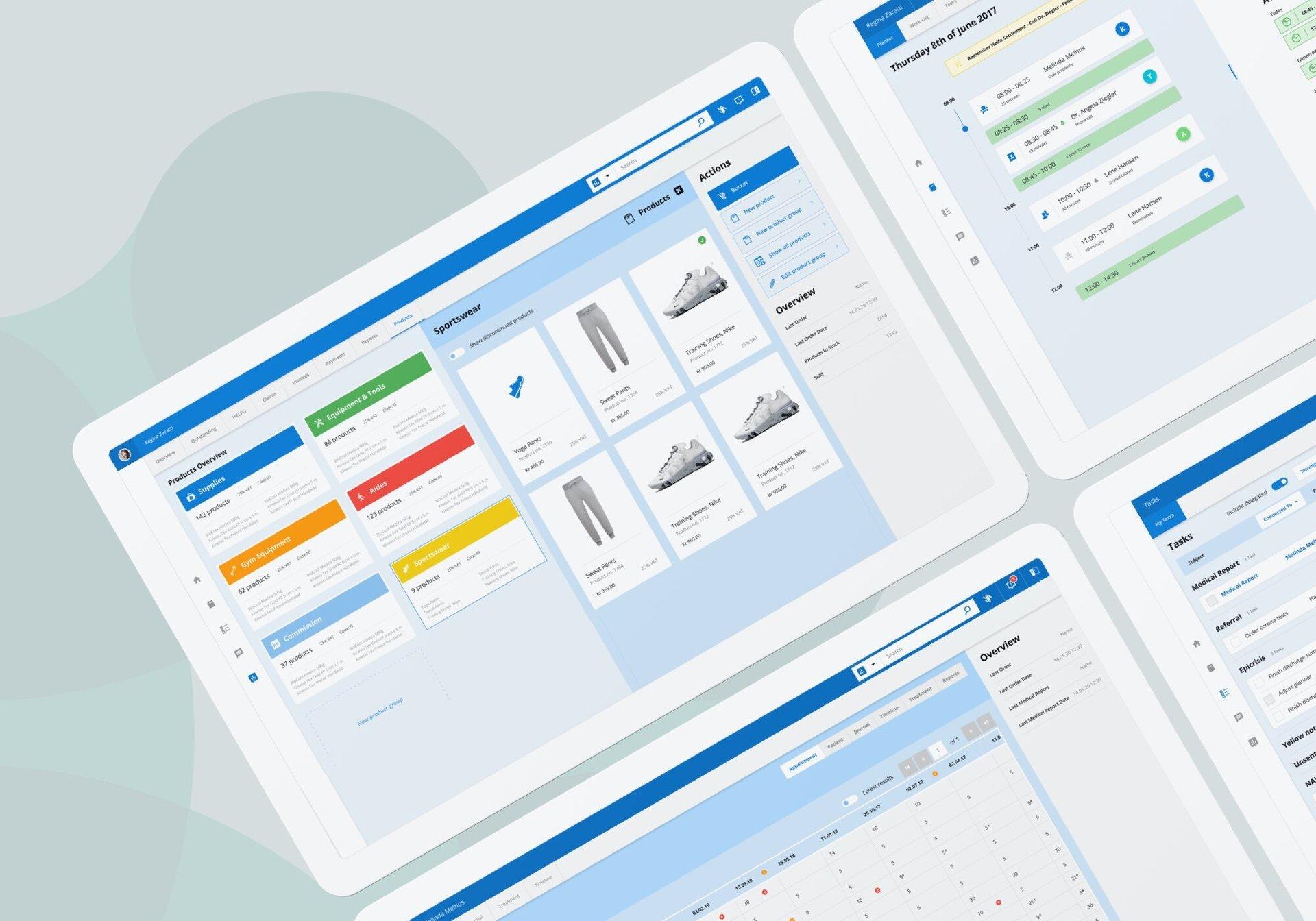 Patient management software: products overview, calendar