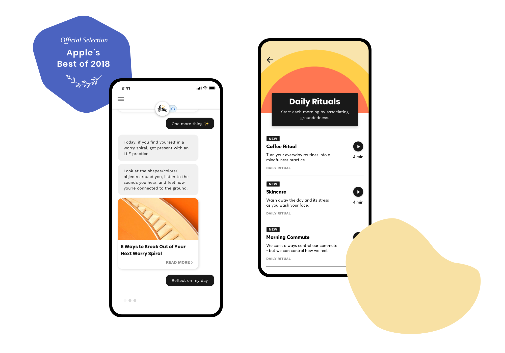 Shine app, Best of 2018 Award