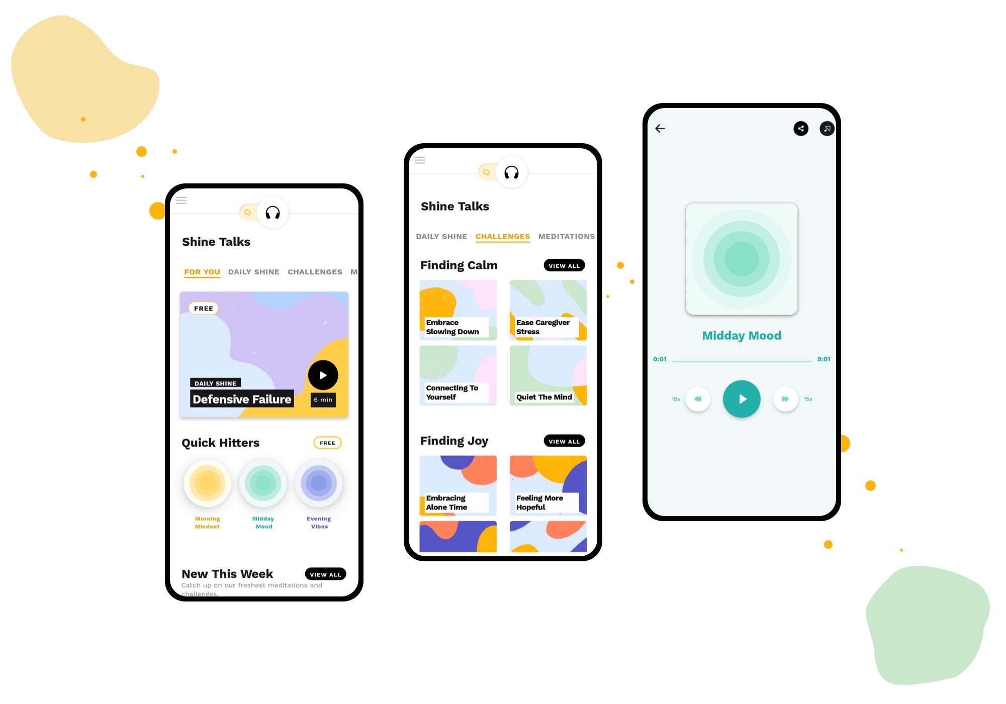 React Native mobile app examples - Shine