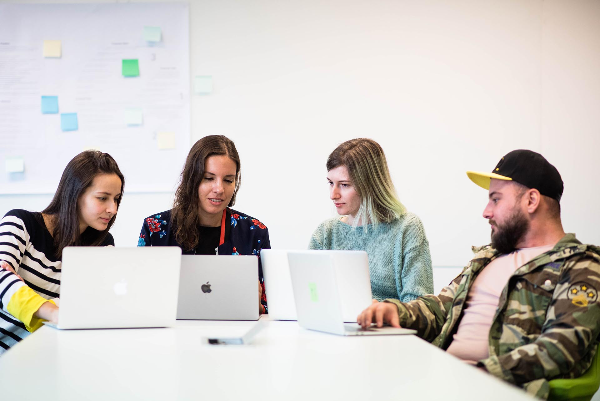 Netguru team working on a project