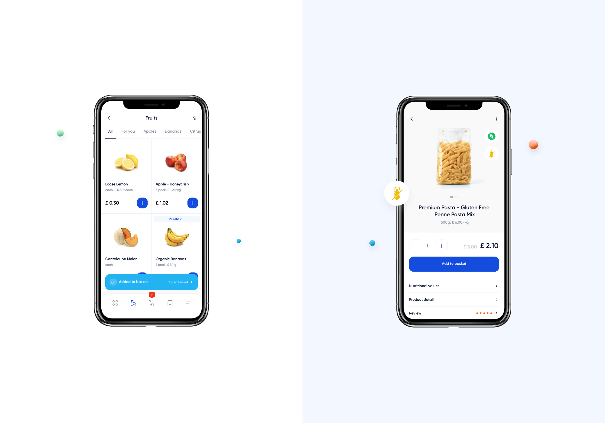 Click & Collect redesign screens